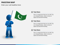 Pakistan map PPT slide 21