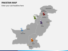 Pakistan map PPT slide 3