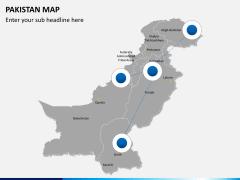Pakistan map PPT slide 4
