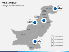 Pakistan map PPT slide 5