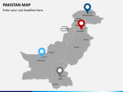 Pakistan map PPT slide 6