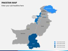 Pakistan map PPT slide 8