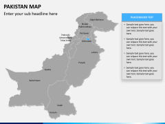 Pakistan map PPT slide 9