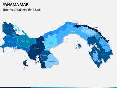 Panama map PPT slide 1