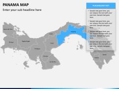 Panama map PPT slide 10