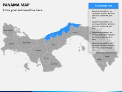 Panama map PPT slide 11