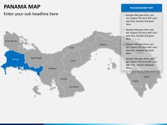 Panama map PPT slide 12
