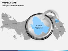 Panama map PPT slide 13