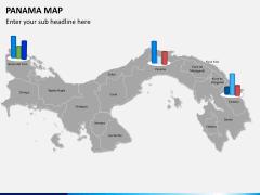 Panama map PPT slide 14