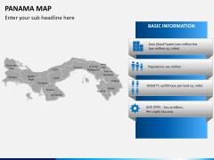 Panama map PPT slide 15