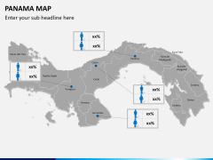Panama map PPT slide 16