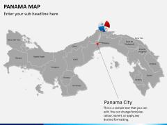Panama map PPT slide 17