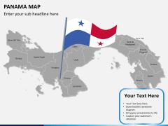 Panama map PPT slide 18
