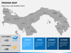 Panama map PPT slide 19