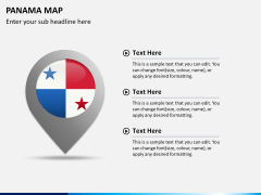Panama map PPT slide 20