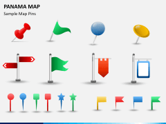 Panama map PPT slide 23