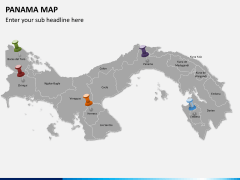 Panama map PPT slide 3