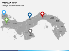 Panama map PPT slide 5