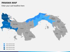 Panama map PPT slide 8