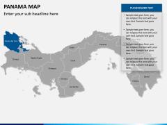 Panama map PPT slide 9