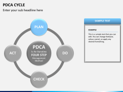 PDCA cycle PPT slide 12