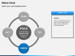 PDCA cycle PPT slide 14