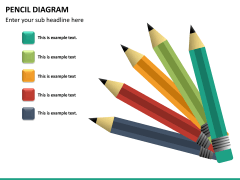 Pencil diagram PPT slide 12