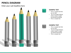 Pencil diagram PPT slide 13