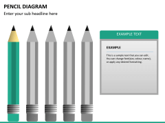 Pencil diagram PPT slide 16