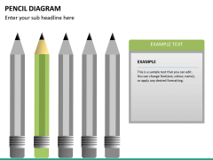 Pencil diagram PPT slide 17