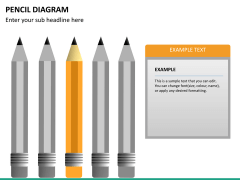 Pencil diagram PPT slide 18
