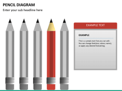 Pencil diagram PPT slide 19