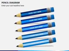 Pencil diagram PPT slide 1