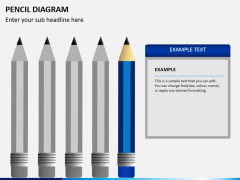 Pencil diagram PPT slide 10
