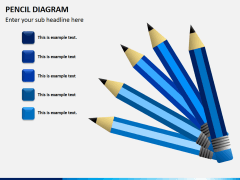 Pencil diagram PPT slide 2