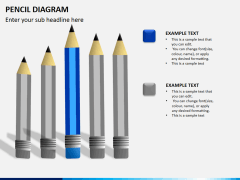 Pencil diagram PPT slide 3