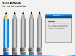 Pencil diagram PPT slide 6