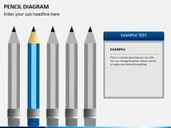 Pencil diagram PPT slide 7