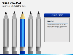 Pencil diagram PPT slide 8