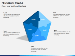 Pentagon puzzle PPT slide 1