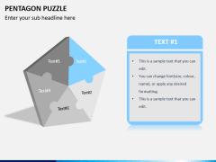 Pentagon puzzle PPT slide 2