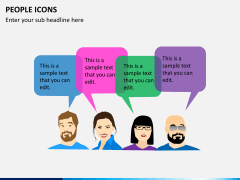 People icons PPT slide 5