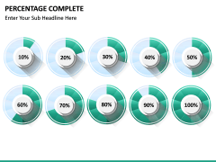 Percentage complete PPT slide 22