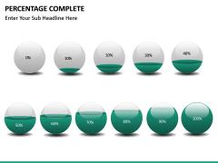 Percentage complete PPT slide 24