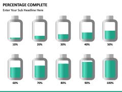Percentage complete PPT slide 16