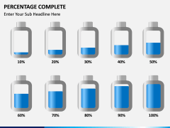 Percentage complete PPT slide 4