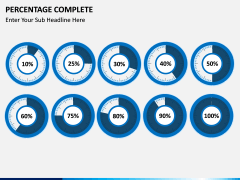 Percentage complete PPT slide 5