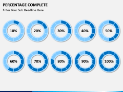 Percentage complete PPT slide 7