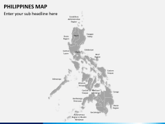 Philippines map PPT slide 1