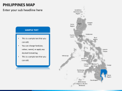 Philippines map PPT slide 11